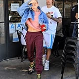 Hailey Baldwin Combat Boots Yellow Laces House of Holland