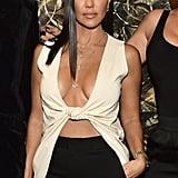 Kourtney Kardashian With Glossy, Straight Hair 2018