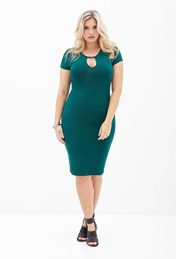 Forever 21 Plus-Size Keyhole-Cutout Dress | Plus-Size ...