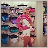 Candice Swanepoel struck a cute pose for the camera while promoting the Victoria's Secret Swim collection in Seattle. Source: Instagram user victoriassecret