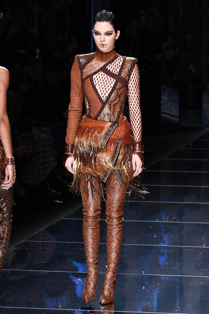 Kendall Debuted These Ultrasexy Balmain Snakeskin Boots on ...