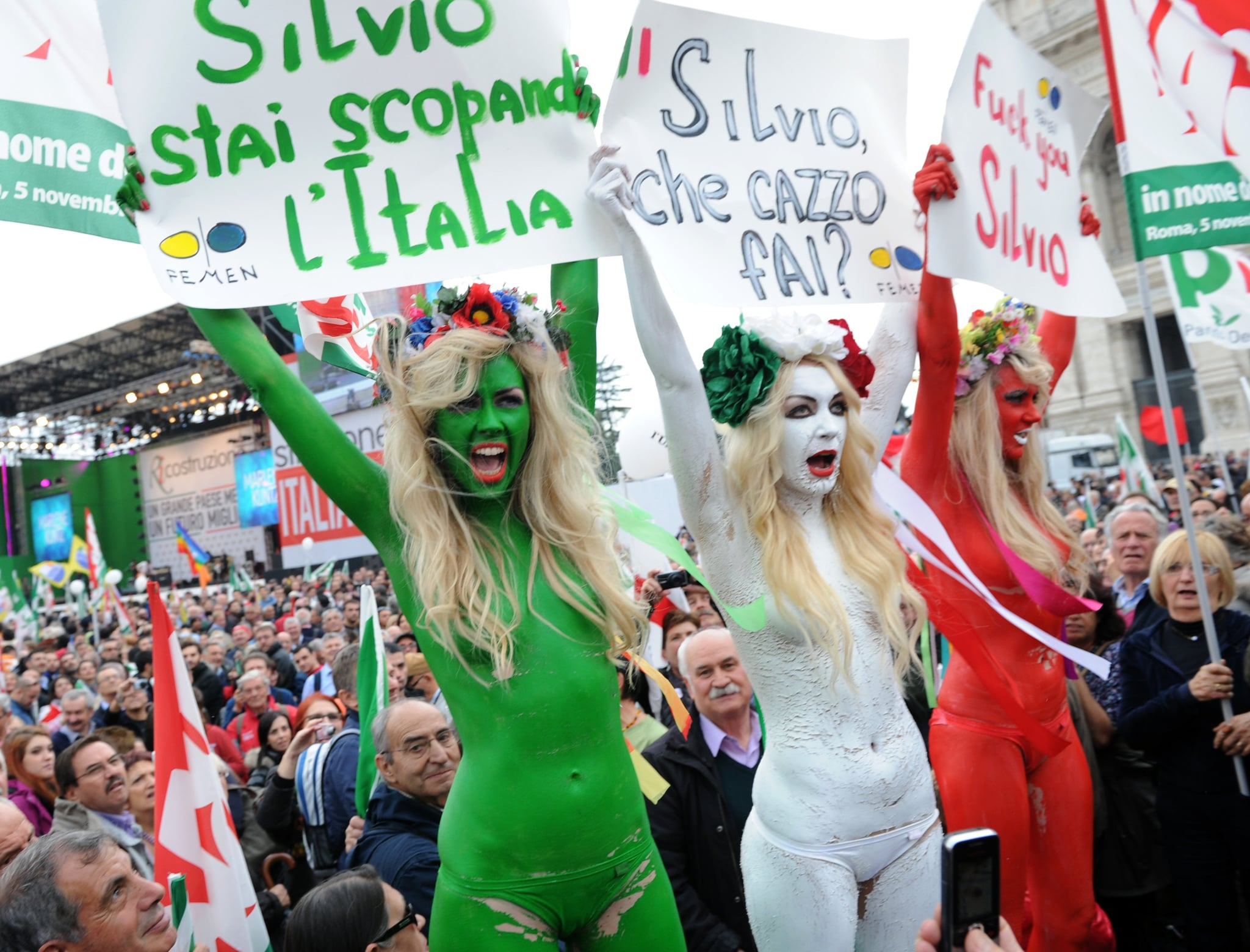 Femen in italy 2011 how women have protested through for B et b italia
