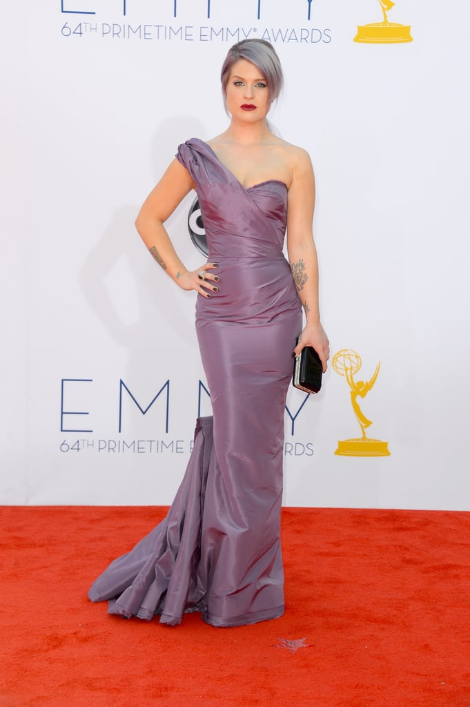Kelly Osbourne posed on the red carpet at the Emmys.