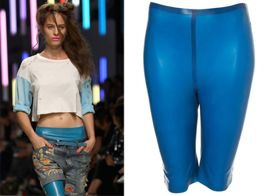 Topshop's Rubber Cycling Shorts for Spring 2010