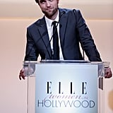Robert Pattinson appeared on stage in LA for Elle's Women in Hollywood Awards.
