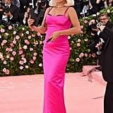 Gaga accessorized this look with Linda Farrow sunglasses.