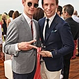 With Eddie Redmayne