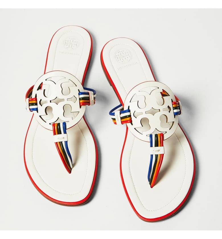 Tory Burch Mignon Miller Logo Sandals