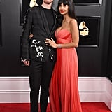 Pictured: James Blake and Jameela Jamil
