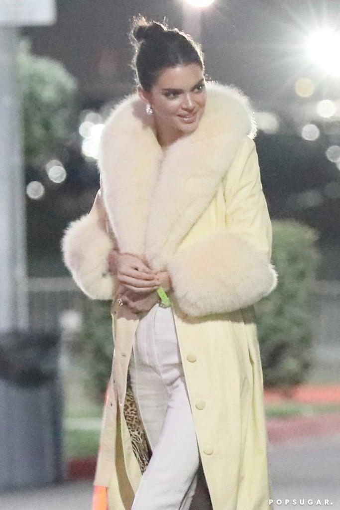 Kendall Jenner's Yellow Coat 2018
