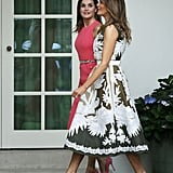Melania Trump Valentino Dress With Queen Letizia 2018