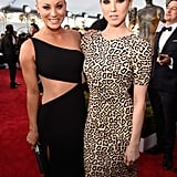 Kaley Cuoco was joined by her sister, Briana, at the SAG Awards.