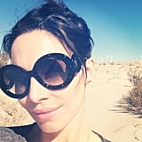 """Whitney Cummings snapped a selfie while on a hike, adding, """"New Year's resolution: stay in the sunshine. Darkness is so 2013."""" Source: Instagram user whitneyacummings"""