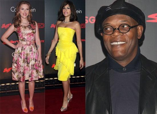 Photos Of Samuel L Jackson, Scarlett Johansson, Eva Mendes at The Spirit Launch Party In London