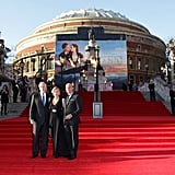 Kate Winslet, Billy Zane, and James Cameron at the world premiere of Titanic 3D in London.
