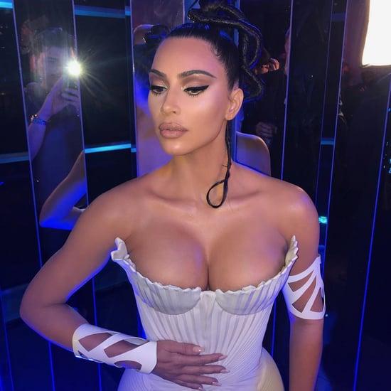 Kim Kardashian Wears Mugler Outfits Feb. 2019