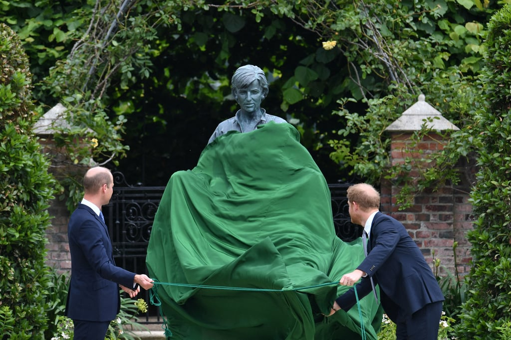 Prince William and Prince Harry Unveil the Princess Diana Statue in Kensington Palace