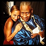Nicole Richie shared a moment with André Leon Talley. Source: Instagram user nicolerichie