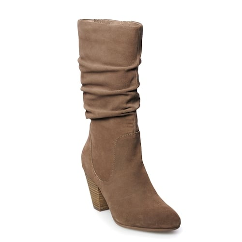 dc371184f3e SONOMA Goods for Life Sketch Women's Suede Slouch Boots | Best Boots ...