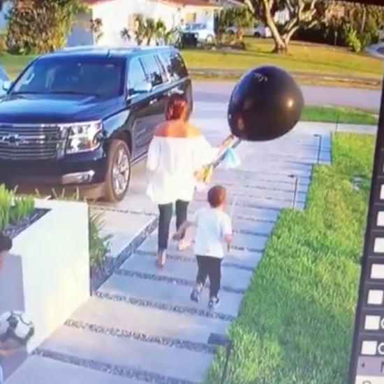 Boy Pops Mum's Gender Reveal Balloon