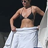 Jennifer Aniston took in the views from her deck.