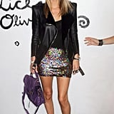 More sequins! Nicky Taylor at Alice + Olivia. Love, love that Proenza Schouler PS1 bag.