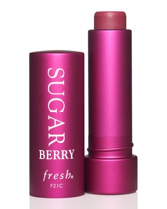 This Fresh Sugar berry lip tint ($23) gives the perfect pink shade without going overboard, but here's a makeup secret: use it as a cheek tint, as well, for the perfect rosy glow.