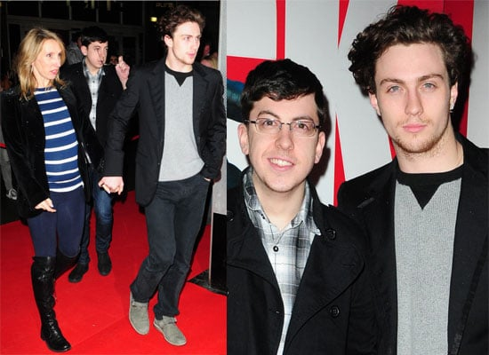Photos of Aaron Johnson and Interview at Manchester Premiere of Kick-Ass Plus Christopher Mintz-Plasse, and Sam Taylor Wood