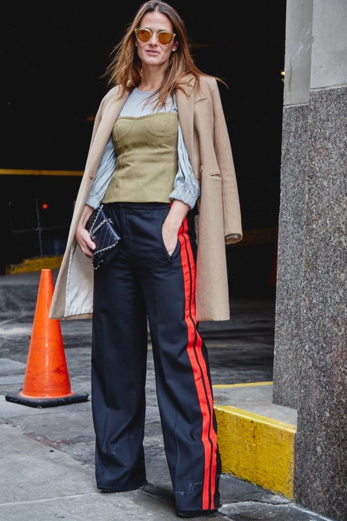 On Fashion Director Hannah Weil McKinley: Tibi top, H&M coat, Zara pants, and Chanel bag