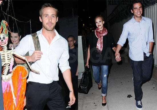 Photos of Ryan Gosling performing With Dead Man's Bones, Jessica Alba, and Cash Warren Attended