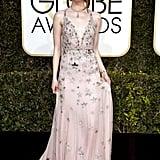 Emma Stone's Valentino Dress at Golden Globe Awards 2017