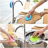 Antibacterial Silicone Dishwashing Sponges (Pack of 7)