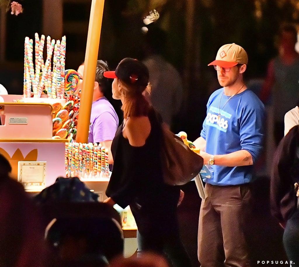 Ryan Gosling and Eva Mendes at Disneyland August 2017