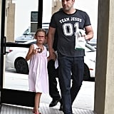 Ben Affleck and Violet ran errands around LA's Brentwood neighborhood.