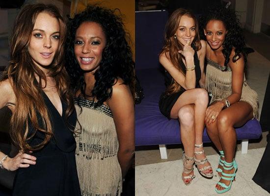 20/4/2009 Mel B and Lindsay Lohan