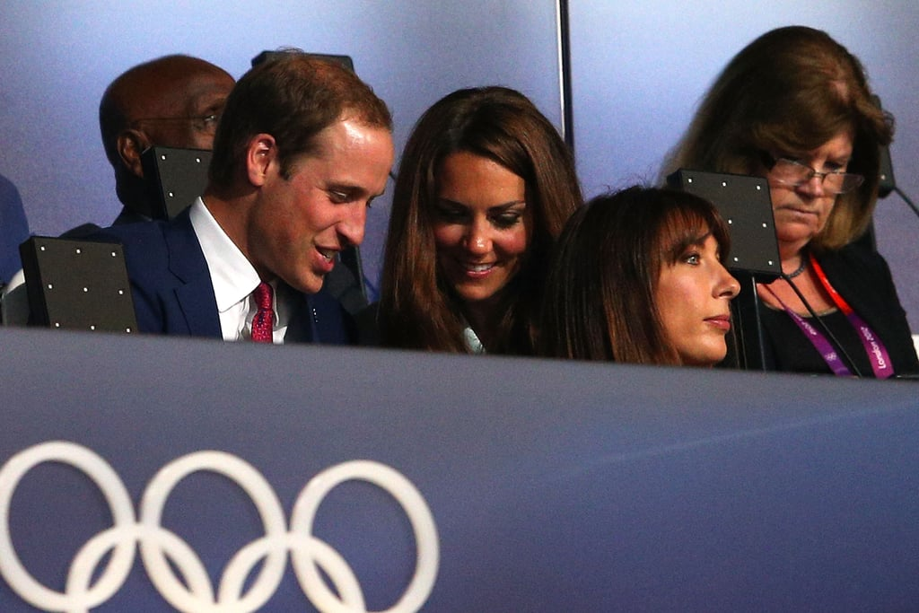 Prince William and Kate shared a moment during the opening ceremony.