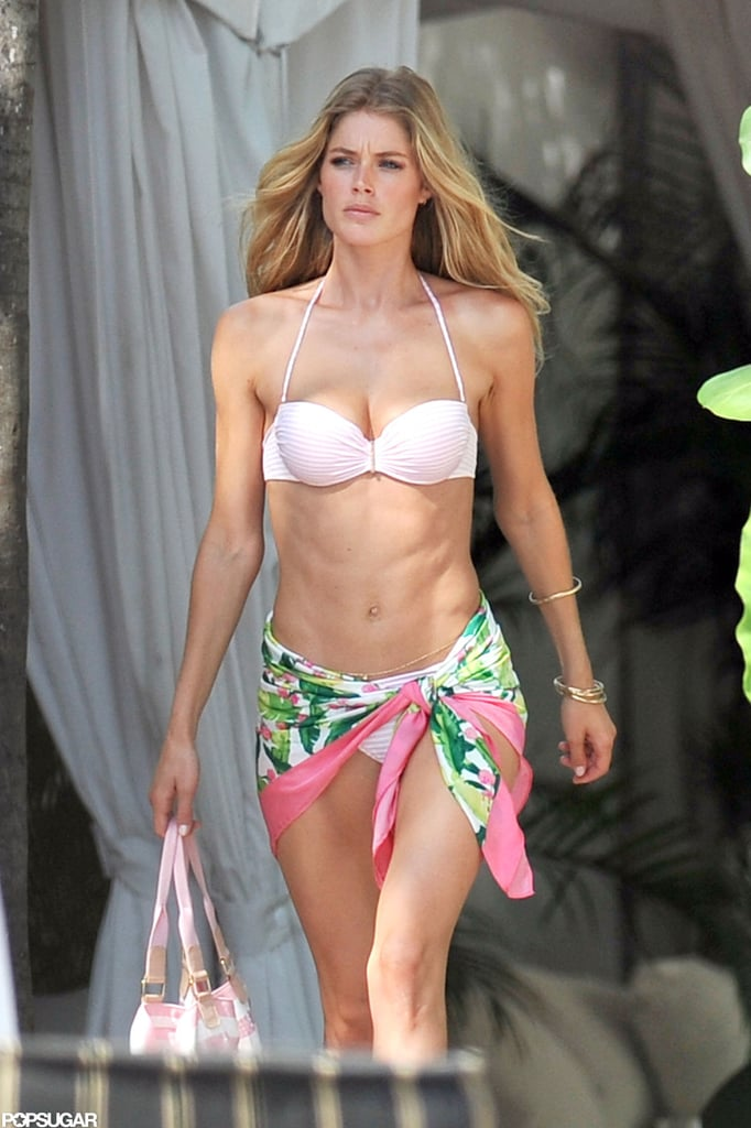 Doutzen Bares Her Abs in a Sexy Bikini With Fellow Angel Candice