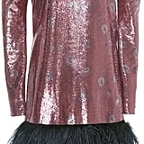 Johanna Ortiz Aurora Feather Hem Sequin Dress