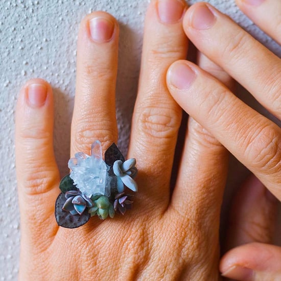 Crystal Succulent Rings