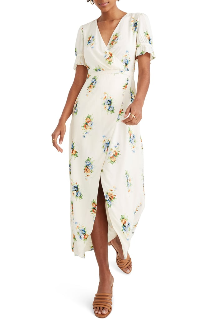 Madewell Classic Corsage Ruffle-Sleeve Maxi Dress