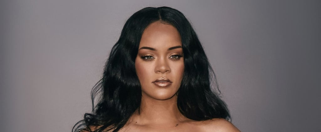 Rihanna Wears Gold Fenty Products on Her Lipstick