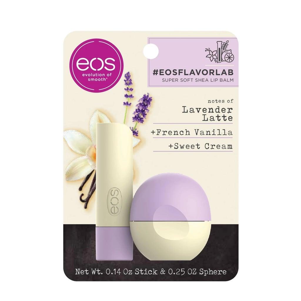 Eos Flavor Lab Lip Balm Stick and Sphere in Lavender Latte