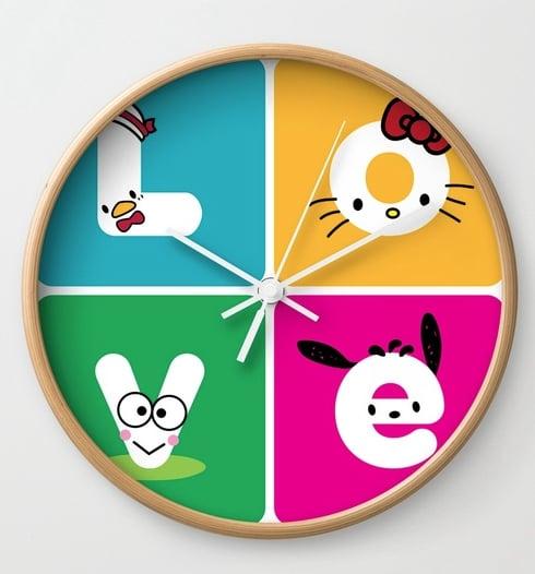 Love Sanrio Clock