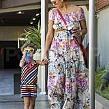 Jessica Alba and Honor Mix and Match During a Shopping Date