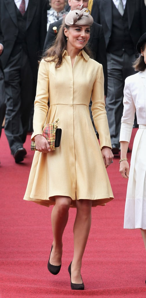 Kate Middleton attended the Thistle Ceremony in Scotland.