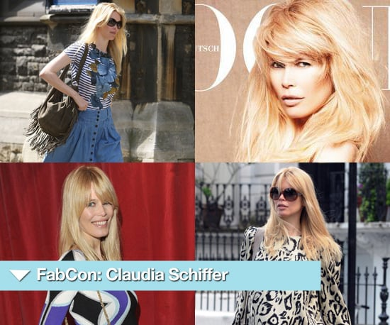 Photos of Claudia Schiffer On the School Run, Pregnant and in Vogue Germany 2010-07-22 04:00:58