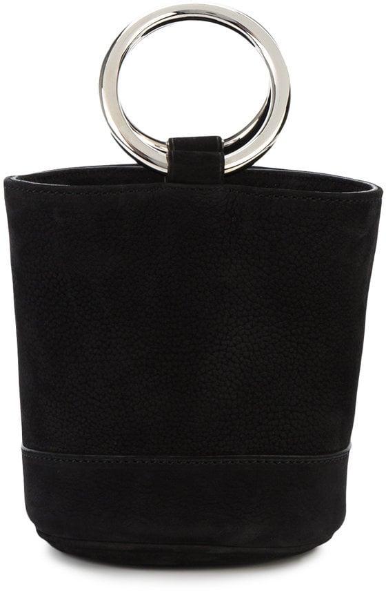 Simon Miller Mini Black Suede Bonsai 15 Bucket Bag
