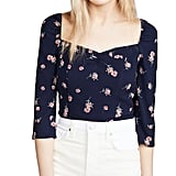 BB Dakota Scattered Daisy Printed Puff Sleeve Top