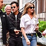Jennifer Aniston With Justin Theroux in NYC September