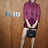 Chloe Sevigny is no stranger to quirky ensembles, and this Miu Miu appearance brought about a cool take on printed jackets and platform loafers.